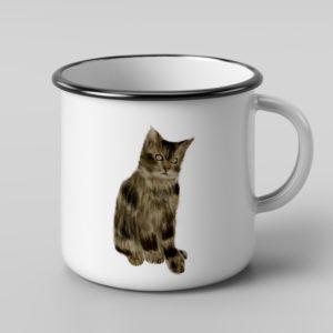 ספל אמייל – חתול יוסי