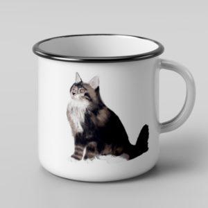 ספל אמייל – חתול ג'ורג'